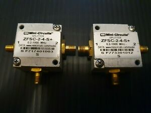 Mini-circuit ZFSC-2-4-S+ Power Splitter/Combiner 2 Way-0° 50Ω 0.2 to 1000 MHz