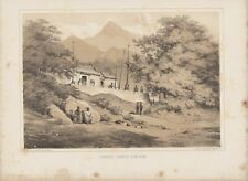 Heine Lithography Adm.Perry's Expedition to Japan 1856 Chinese Temple Hong Kong