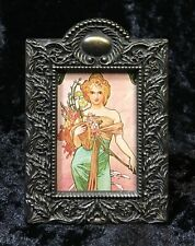 Alphonse Mucha Art Nouveau Deco Season Woman Spring Flowers Framed Print