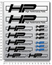 HP4 Aufkleber blatt Laminiert 15 stickers bmw s1000RR HP performance s1000R