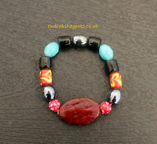 AGATE HAKIK STONE FANCY BRACELET WRIST BAND WRISTBAND INDONESIAN RAW BEADS PURE