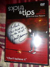 HAND SIGNED DVD TRICKS & TIPS From David Edwards The Trick Shot Maestro GOLF