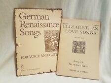 New ListingRenaissance & Elizabethan Sheet Music Book Lot - Song List Included