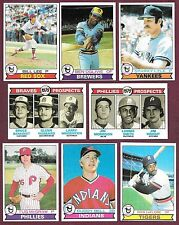 1979 Topps 5/ $.99 You Pick Complete Your Set #s 9 10 13 15 16 18...721 723 724