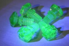 SET OF 5 VINTAGE VASELINE GLASS SCREW TYPE DRAWER PULLS / KNOBS UV REACTIVE