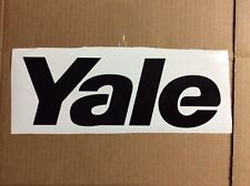 New listing 1 Set Of Black Yale Forklift Hood Decals 9.5 Wide You Get 2 Decals