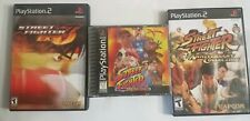 STREET FIGHTER EX3, ANNIVERSARY COLLECTION, PlayStation 2 PS2 PS1 COLLECTION LOT