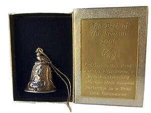 Partridge in a Pear Tree 2006 Cast Metal Bell Pear Bureau Northwest USA Ornament
