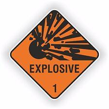 1x nouveau design explosif autocollant avertissement pour ordinateur portable tablette pare-chocs pc casque #02