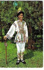 "Romania 1960s ""Calusar"" Dancer in Folk Costume Argers Region,""KRUGER"" Publischer"