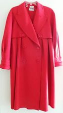 Vintage VALENTINO BOUTIQUE AMEN WARDY Red Wool Long Jacket Coat, Italy, L-XL