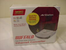 NEW - BUFFALO HIGH POWER TURBO G WIRELESS ETHERNET CONVERTER