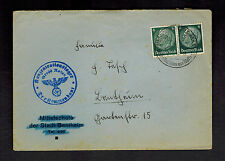 1940 Germany Waffen SS Gross Rosen Concentration Camp Commandant Cover KZ w/ltr