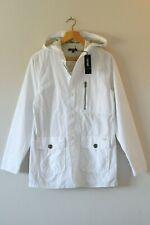 Brand New DKNY Unisex Boys Girls White Hooded Coat | Age 14