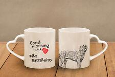 "Fila Brasileiro - ceramic cup, mug ""Good morning and love, heart"", Ca"