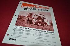 Bobcat Skid Loader Auger Attachment Dealers Brochure DCPA2