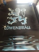 1980 Lowenbrau Beer Bar Poster Super Rare Size Large 30 x 40 Mint