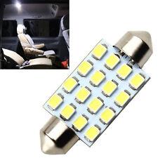 41mm White C5W Vanity Mirror Reading Lights Sun Visor Lamp SMD 16 LED Car Bulb