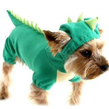 Dog Clothes Puppy Halloween Costume Pet Dinosaur Jumpsuit Velour Dog Apparel
