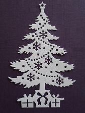Christmas Tree Paper Die Cuts x 8 Scrapbooking Embellishment - Not a Die