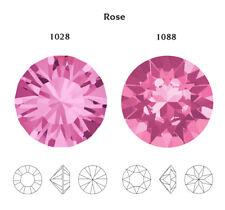 Genuine SWAROVSKI 1028 & 1088 Chatons Foiled Round Stones * Many Colors & Sizes