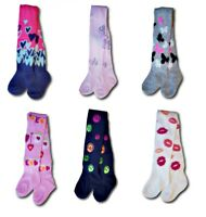 Baby Girl Children Kids Patterned Cotton Blend Tights Size 6 Months - 8 Years