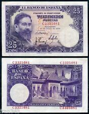 Billete 25 Pesetas 1954 ISAAC ALBENIZ SC-  / SPAIN Pick 147  A/UNC