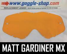 Goggle-shop Lente Para Spy Targa 3 / Whip / Klutch Motocross Gafas Naranja Tint