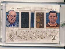 TINY THOMPSON JACK ADAMS 10/11 ITG Enshrined Classmates GLOVE GOLD TRUE 1/1 HOF*