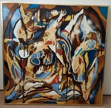 Original 36x36 Abstract Oil Painting By J.A. Ross