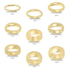 14k Yellow Gold Plated Men Or Women 925 Sterling Silver Wedding Band Ring