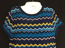 Missoni For Target Women's Blue Chevron Zig Zag Striped Knit Dress Size Medium