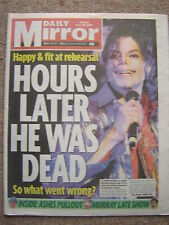 "MICHAEL JACKSON - ""Daily Mirror"" 30th June 2009 - 8 pages covering the story"