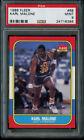 1986-87 Fleer Karl Malone Rookie PSA 9 Mint RC #68 Utah Jazz HOF SHARP
