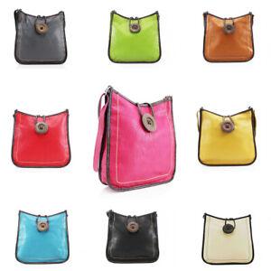 Ladies Cross Body Messenger Bag Women Shoulder Over Bags Button Designer Handbag