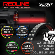 "REDLINE 60"" 2-ROW LED TAILGATE LIGHT BAR STRIP For 2009-2014 2010 2011 FORD F150"