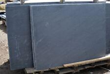 Blue Black Brazilian Slate hearth  900x900x20mm - slate slabs for fireplaces