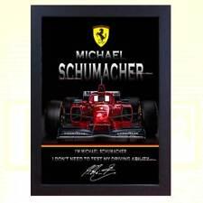 poster Michael Schumacher signed autographed Formula 1 Ferrari Framed