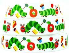 "Grosgrain Ribbon 7/8"", 1.5"" & 3' The Very Hungry Caterpillar Cartoons Printed."