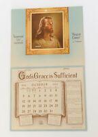 1952 Triumphant Life Calendar F. M. Bates Art Jesus Sallman 1950s Church