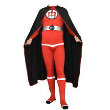Greatest American Hero Adult Costume And Cape Body Suit Spandex Superhero 80s TV
