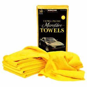 36 x Kirkland Signature Ultra Soft Plush Microfibre Towels Cloths 40cm x 40cm