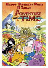 LARGE A5 GLOSSY PERSONALISED ADVENTURE TIME BIRTHDAY CARD
