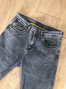 Zara Mens Jeans 30 Grey 30 X 28 Skinny Slim Washed Style