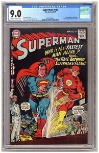 Superman 199 (CGC 9.0) 1st Superman vs. Flash race; JLA cameo; Swan art B986