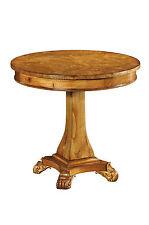 Hampton Walnut Pedestal Table With Lion Feet Antique Reproduction H3068