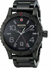 Nixon Diplomat SS A2771883 Black Dial Black Ion-Plated Stainless Steel Band Men'