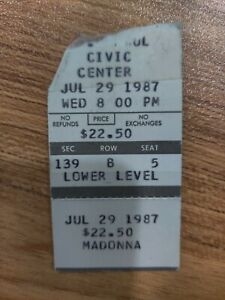 CHECK IT OUT! Madonna 1987 Ticket Stub! #16/166
