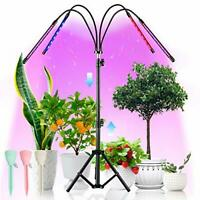 LED Grow Lights with Stand, 4 Heads Floor Plant Growing Lamps for Indoor Plants