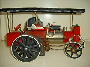 Wilesco working Steam Traction engine red/black